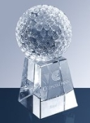 Crystal Golf Ball w/ Tall Base - Available in 3 Sizes: