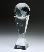 Crystal Best Globe Trophy - Bigheadawards.net