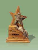 "Eco-Friendly Recycled Wood Award, Size 8 3/4""H"