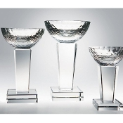 "Crystal Glory Trophy Cup Award is Available In 3 Sizes: 7""H, 8 1/2""H, 10""H"