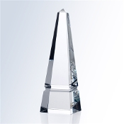 Commemorate excellence in your organization with the unparalleled prestige of the Crystal Groove Obelisk Award, in optical crystal