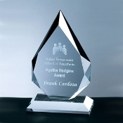 "Crystal Prestige Flame Award - Sizes: 6 3/4""H, 8""H, 9 3/4""H"
