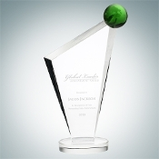 "The Conception Green Globe Award, Size: 9 3/4""H - Bigheadawards.net"