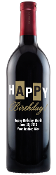 Happy Birthday Bold Gold Personalized Etched Wine Bottle