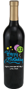 Happy Birthday Stars Personalized Etched Wine Bottle
