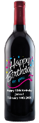 Happy Birthday To You Personalized Etched Wine Bottle