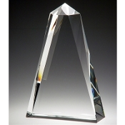 "The Big Top Crystal Award is available in 8 1/2""Height"