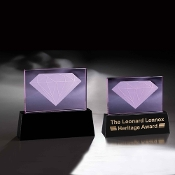 "The Crystal Carat Award is available in 10""Height"