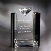 "The Crystal Marquis Award is available in 12""Height"