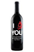 I Heart You Personalized Etched Wine Bottle