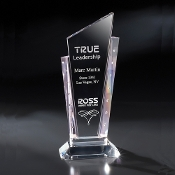 "The Pink Tesoro with Rhinestones Crystal Award is available in 11""Height"