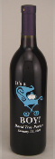 Personalized Etched Wine or Champagne Bottles - Baby - It's a Boy from Bigheadawards.net