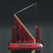 "Elegant Summit Award is available in 2 colors: Maroon or Blue. Each color comes in 3 different sizes. 8""H, 9""H, 10""H"