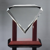 "Acrylic Diamond Award, Sizes: 8""H, 9""H, 10""H"