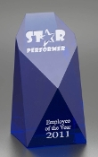Commemorate excellence in your organization with the unparalleled prestige of the Crystal Cobalt Monument Award.