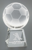 "Crystal Soccer Ball on Base Trophy is available in 5"" Height"