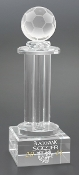 "Crystal Soccer Ball Tower Trophy is available in 12"" Height"