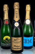 Personalized Etched Wine or Champagne Bottles - Corporate Gifts from Bigheadawards.net