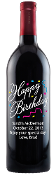 Happy Birthday Confetti Personalized Etched Wine Bottle