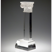 "The Crystal Pillar of Success Award is available in 11 3/4""Height"