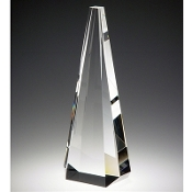 "The Crystal Pinnacle Award is available in 10""Height"