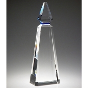 "The Blue Phineal Crystal Award is available in 11 1/2""Height"