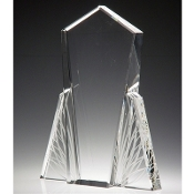 "Crystal Wings of Flight Award is available in 10""Height"