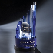 "The Crystal Aerial Award is available in 12 1/4""Height"