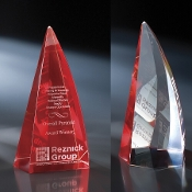 "The Crystal Apollo Award is available in 10 1/2""Height"