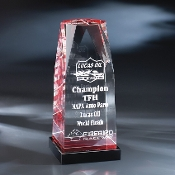 "The Crystal Solium Award is available in 9""Height"