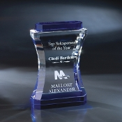 "The Annapolis Crystal Award is available in 9""Height"