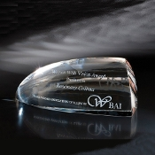 "The Glacies Crystal Award is available in 4 1/8""Height"