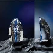 "The Solitude Crystal Award is available in 9""Height"