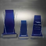 "The Avante Garde Crystal Award is available in 11""Height"