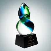 Art Glass Awards, Glass Awards, Glass trophies, engraved glass trophies, engraved glass awards, corporate awards