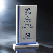 "The Edgewater Crystal & Stone Award is available in 10 3/4""Height"