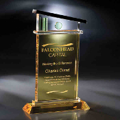 "The Crystal Vista Del Mar Award is available in 11""Height"