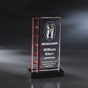 "The Laguna Crystal Award is available in 9""Height"