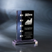 "The Connect Crystal Award is available in 9 1/8""Height"