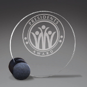 "Bigheadawards.net is proud to offer the Textured Black and Clear Acrylic Award with Free Engraving and No Setup Fees. Size: 6""H,"
