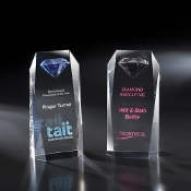 "The Pink Randevu Crystal Award is available in 6""H and 8""H"