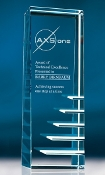 "Crystal Steps to Success Award is available in two different sizes. 6 1/2""Height and 8""Height"